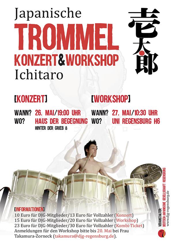 Trommel-Konzert und Workshop von Ichitaro