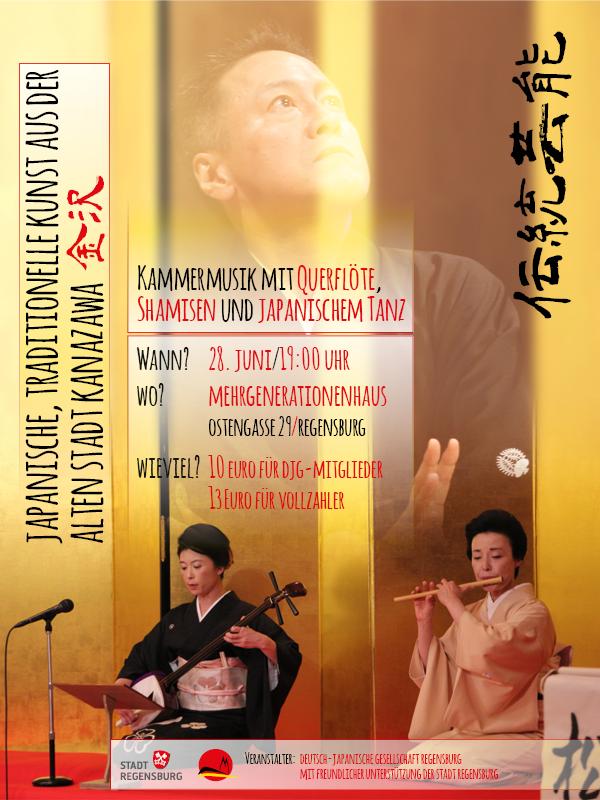 Konzert: traditionelle japanische Musik und Tanz aus Kanazawa